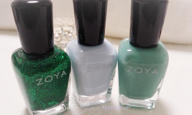ミントグリーン,緑,水色、ラッキーカラー,zoya,マニキュア,ペディキュア